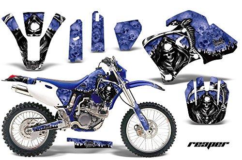 Yamaha WR250F WR400F WR426F 1998-2002 MX Dirt Bike Graphic Kit Sticker Decals WR 250 400 426 F REAPER BLUE