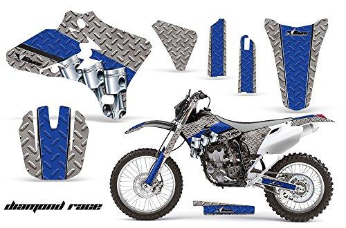 Yamaha WR250F WR450F 2005-2006 MX Dirt Bike Graphic Kit Sticker Decals WR 250 450 F DIAMOND RACE BLUE