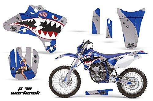 Yamaha WR250F WR450F 2005-2006 MX Dirt Bike Graphic Kit Sticker Decals WR 250 450 F WARHAWK BLUE