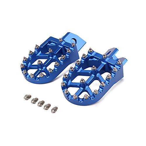 AnXin Foot Pegs Footpegs Footrest Foot Pedals Rests CNC For YAMAHA YZ80 YZ125 YZ250 YZ500 YZ490 WR200 WR250 WR500 TTR90 TTR110 TR125 TTR250 XT250 Motorcycle