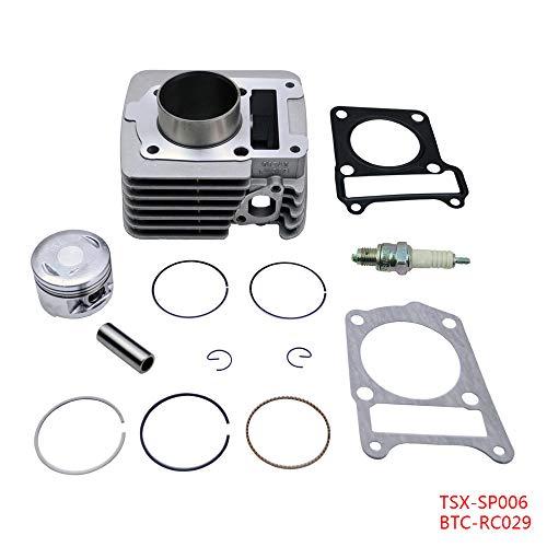 FLYPIG Cylinder Piston Gasket Top End Ring Set Rebuild Kit for 2000-2005 Yamaha TTR125 TTR125E TTR 125 Cylinder Top End Piston