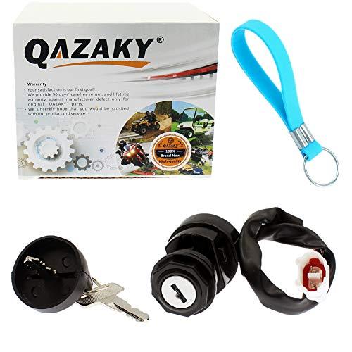 QAZAKY Ignition Key Switch Replacement for Yamaha YFA125 YFM125 YFM250 YFM350 YFM660 YFM700 Breeze Banshee Bruin Grizzly Raptor Warrior Wolverine ATV YFA 125 YFM 250 350 660 700