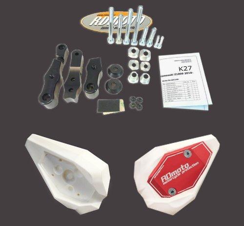 Honda CBR 125 2004-2010 RD Moto Crash Frame Sliders Protectors With Full Mounting Kit SL01 WhtRed