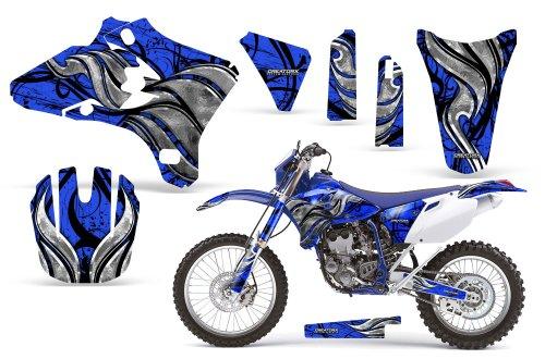CreatorX Yamaha Yz250F Yz450F Wr250 Wr450 Graphics Kit Decals Fire Blade Blue