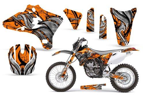 CreatorX Yamaha Yz250F Yz450F Wr250 Wr450 Graphics Kit Decals Fire Blade Orange