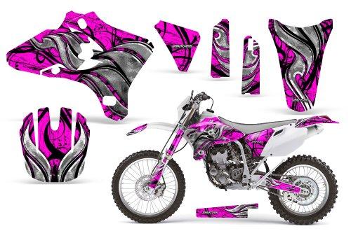 CreatorX Yamaha Yz250F Yz450F Wr250 Wr450 Graphics Kit Decals Fire Blade Pink