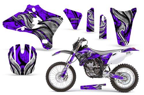 CreatorX Yamaha Yz250F Yz450F Wr250 Wr450 Graphics Kit Decals Fire Blade Purple