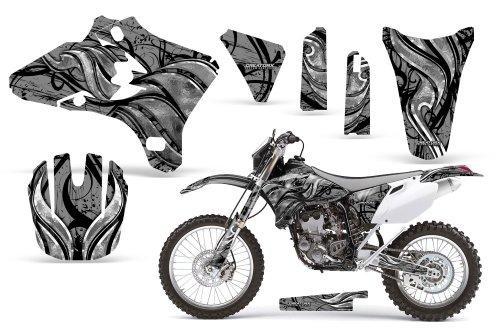 CreatorX Yamaha Yz250F Yz450F Wr250 Wr450 Graphics Kit Decals Fire Blade Silver