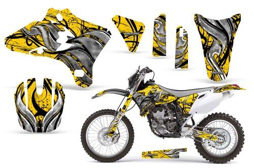 CreatorX Yamaha Yz250F Yz450F Wr250 Wr450 Graphics Kit Decals Fire Blade Yellow