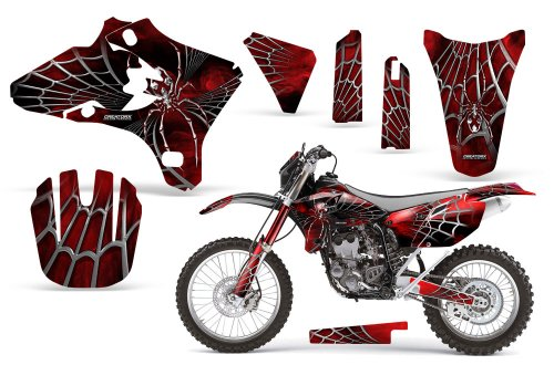 CreatorX Yamaha Yz250F Yz450F Wr250 Wr450 Graphics Kit SpiderX Red Incl Number Plate Graphics