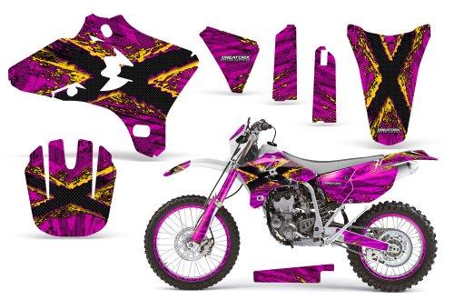 CreatorX Yamaha Yz250F Yz450F Wr250 Wr450 Graphics Kit TribalX Yellow Pink Incl Number Plate Rim Graphics