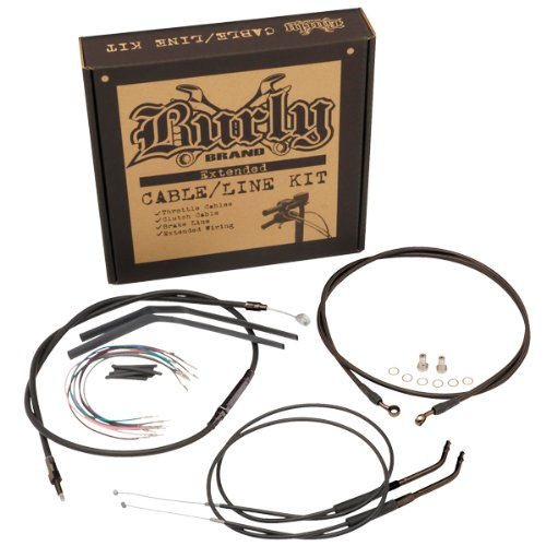 Burly Brand CableBrake Line Kit for Ape Hangers for Harley Davidson 2007-13 XL - 12