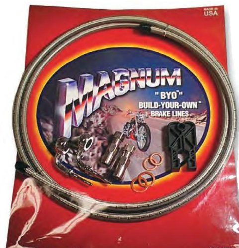 Magnum BYO Build-Your-Own DOT Single Disc Brake Line Kit with 6ft Brake Line - 90 Deg Banjo - Stainless 396790A