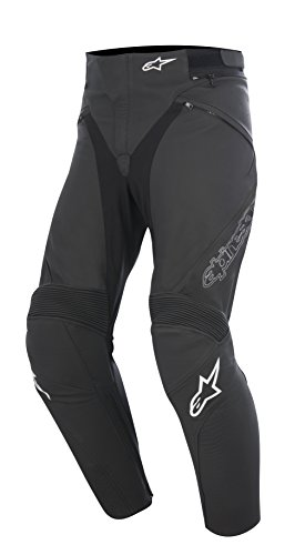 Alpinestars Jagg Black Leather Motorcycle Pants