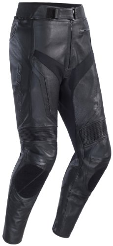 Cortech Adrenaline Mens Leather Motorcycle Pants Black Small