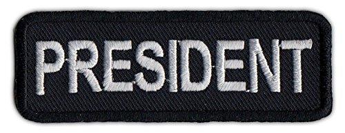 Motorcycle Biker Jacket or Vest Patch - President - Member Rank Position Status Patch