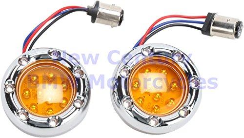 ARLEN NESS Chrome White Fire Ring Amber Led Turn Signal Light