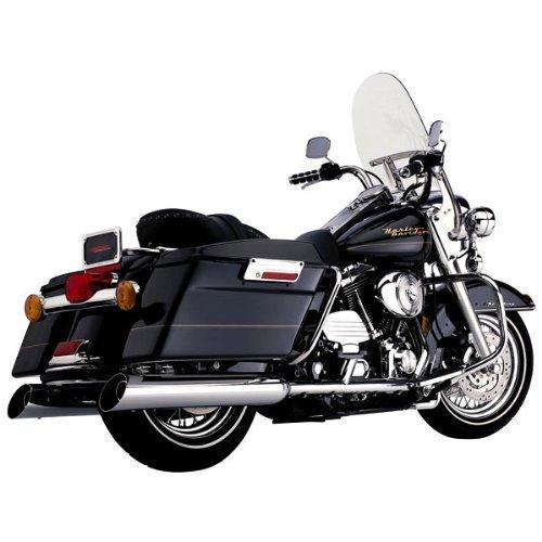 Cobra 4 Inch Slip On Upper Cut Chrome Muffler for Harley Davidson FL Touring Mo