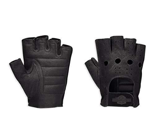 Harley-Davidson Mens Fingerless Gloves Black Xx-Large