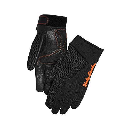 Harley-Davidson Womens Osminda Mesh Leather Gloves Black Small