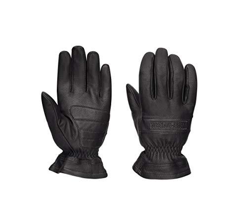 Harley-Davidson Mens Commute Leather Gloves Black Medium