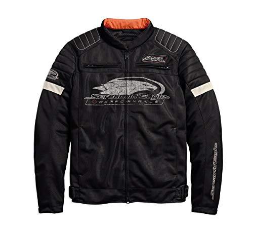 Harley-Davidson Mens Screamin Eagle Mesh Riding Jacket Black