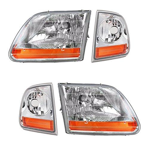 Headlight Parking Light Left Right Set Kit for 02-03 F150 Harley Davidson
