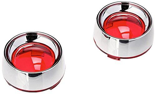 Kuryakyn 2109 Deep Dish Turn Signal Bezel with Red Lens