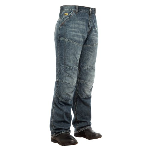BILT IRON WORKERS Steel Motorcycle Jeans - 38 Distressed Denim