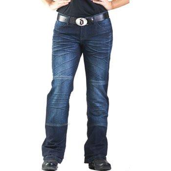 Drayko Drift Riding Jeans Womens Denim Sports Bike Motorcycle Pants - Indigo  Size 4