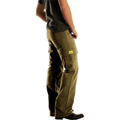 Drayko Jean Mens Cargo Street Motorcycle Pants - Khaki  Size 32