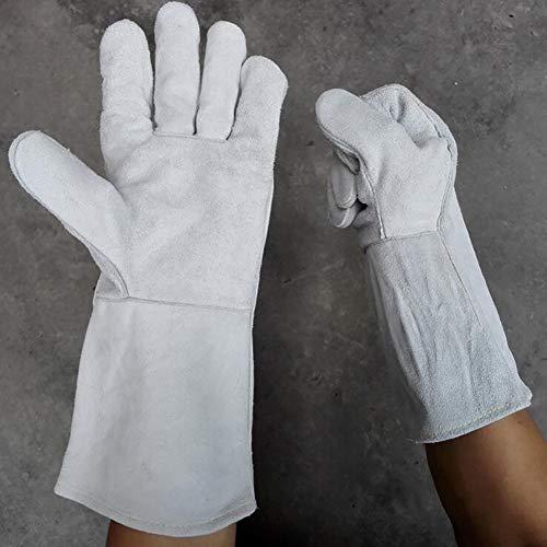 DAN Welding Gloves Heat Resistant Cow Split LeatherCampingCooking Welder Fireplace