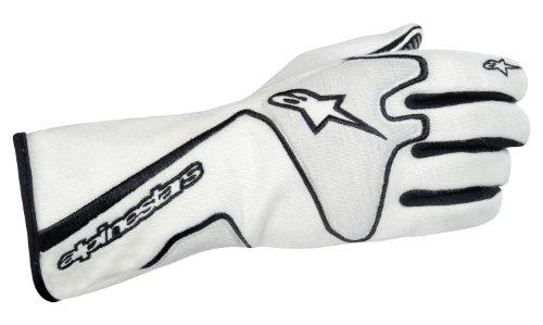 Alpinestars 3551113-21-L WhiteBlack Large Tech 1 Race Gloves