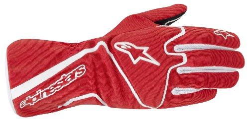 Alpinestars 3552713-32-XL RedWhite X-Large Tech 1-K Race S Youth Karting Gloves