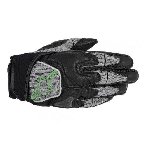 Alpinestars Scheme Kevlar Mens Textile Road Race Motorcycle Gloves - BlackGreen  Medium