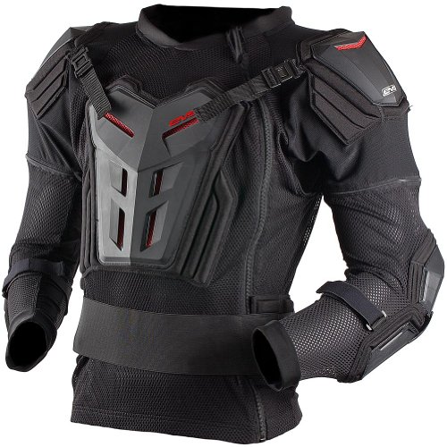 EVS Comp Suit Youth Ballistic Jersey MotoX Motorcycle Body Armor - Black  Large