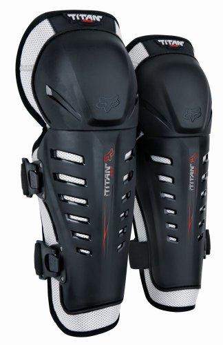 Fox Racing Titan Race Youth KneeShin Guard MotoXOff-RoadDirt Bike Motorcycle Body Armor - Black  One Size