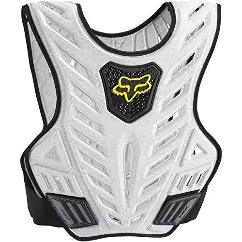 Fox Racing Titan Sport Subframe Mens Roost Deflector Motocross Motorcycle Body Armor - BlackSilver  SmallMedium