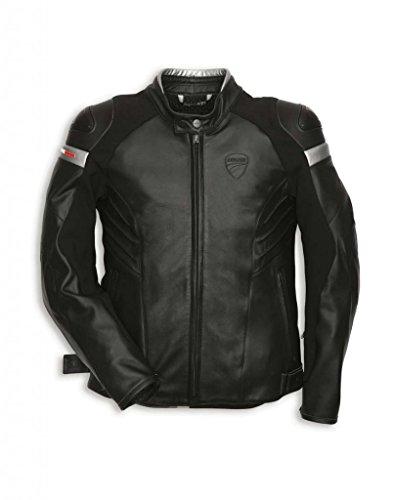Ducati 981018956 Dark Armor Leather Riding Jacket - Size 56