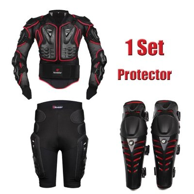 HEROBIKER MC1014 Red Motorcycle Body Armor Motocross Armour Motorcycle Jackets Gears Short Pantsprotective Motocycle Knee Pad