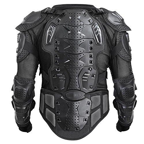 CHIMAERA Powersports Motocross Motorcycle ATV Dirt Bike Body Armor Protective Jacket Upper Body Black X-Large