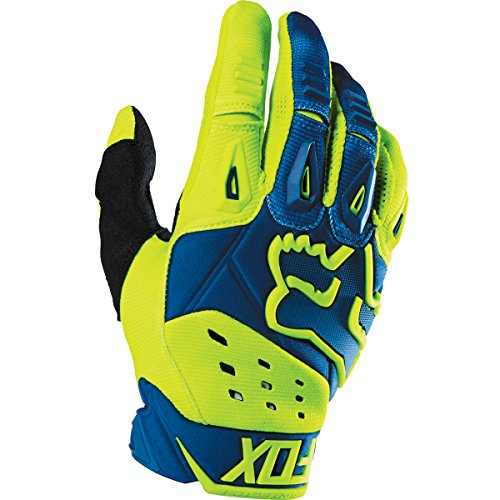 Fox Racing Pawtector Race Mens MotoX Motorcycle Gloves - BlueYellow  Large