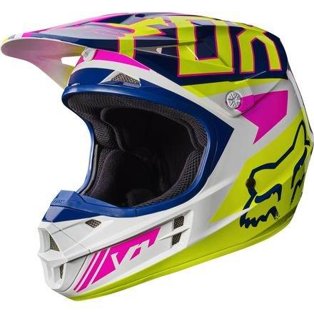 Fox Racing Adult V1 2017 Motocross Helmet Falcon Navy  White Pink 2XL XXL