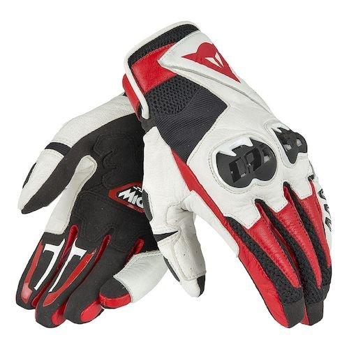 Dainese MIG C2 Gloves BlackWhiteLava Red Size Medium