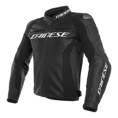 Dainese Racing 3 Leather Motorcycle Jacket BlackWhite 56