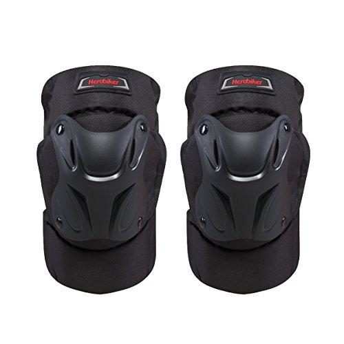 HEROBIKER MK004B Knee Pads Black Motorcycle Racing Knee Protector