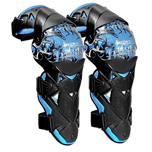 MonkeyJack Pair Motorcycle Racing Riding Knee Guard Protective Protectors Pads Armor Kneepads Gear - Blue