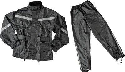 Fly Street 2-Piece Rain Suit - MediumBlack