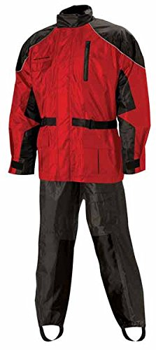 Nelson Rigg AS-3000 BlackRed Aston 2-Piece Rain Suit - Small