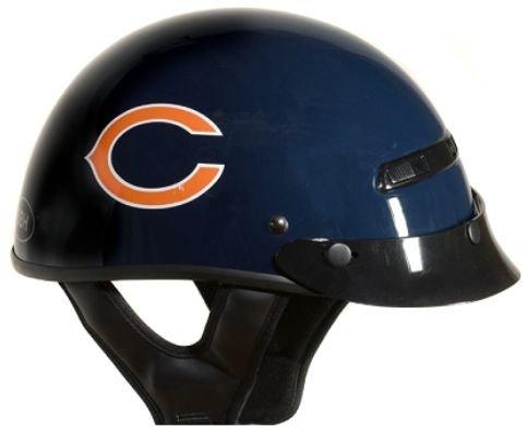 Brogies Bikewear Nfl Chicago Bears Motorcycle Half Helmet (navy Blue, Medium)